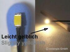 "SMD LED 0603 SUNNY WHITE ""light"" leicht GELBLICH +Litze lightly yellowish warm"