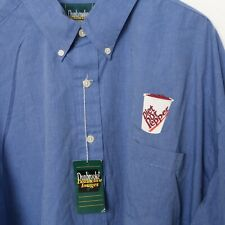 Vintage Dr Pepper Diet Button Shirt XXL 2XL T BLUE Embroidered RARE NEW WITH TAG