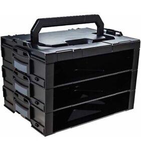 3er Bosch Sortimo Systems i-BOXX Active Rack mit Deckel