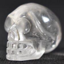 1 Quartz Crystal Skull 2.5cm Reiki Healing Crystal Wand Chakra Meditation