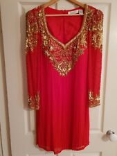 Womens Vintage Red Cocktail Dress. Size 12