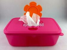 NEW TUPPERWARE TUPPERCARE PINK WIPES DISPENSER TISSUE BOX 1.5L LIMITED RELEASE