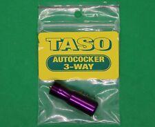 New : Taso Pro Autococker 3-Way 3 Way & Stem Gloss Purple Paintball Gun Marker