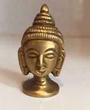 Cabeza de Buda miniatura Budha cabeza maciza latón con acabado antiguo