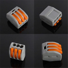 2/3/4/5/8 Way Spring Lever Quick Terminal Block Electric Cable Connector Wire UK