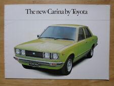 TOYOTA CARINA 1977 UK Mkt Sales Brochure