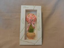 Rose, Hope Peace Love, Multicolored Resin Shadowbox Style Small Plaque