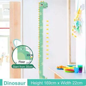 Dinosaur Height Chart Wall Sticker Removable Kids Nursery Decor Decal
