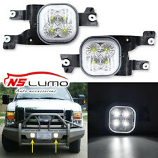 Led Fog Lights Kit For 2008-2010 Ford F-250 F-350 F-450 SD LH&RH Clear Lens 2Pcs
