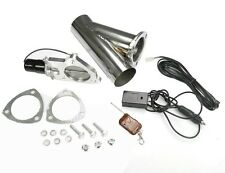 """STAINLESS UNIVERSAL EXHAUST CUTOUT-OUT VALVE E-CUT KIT REMOTE 3"""" / 76mm"""