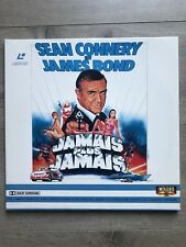 JAMAIS PLUS JAMAIS JAMES BOND 007 DOUBLE LASERDISC LASER DISC PAL FRANÇAIS