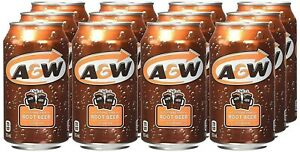 A&W Root Beer 355ml Cans USA Import Pack of 12 cans