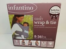 Infantino Sash Wrap and Tie Baby Carrier, Ikat Chevron NEW OPEN BOXED
