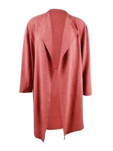 Anne Klein Women's Plus Size Drape-Front Jacket (3X, Cinnamon)
