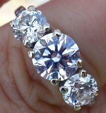 1.90cts H/VS2 Authentic Tiffany & Co Vintage past present future ring Platinum