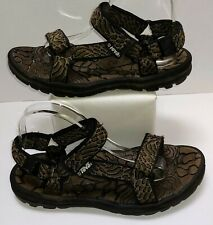 TEVA Black Brown River Rubber Hiking Sport Strappy Sandal Shoe Men's Size 9 US