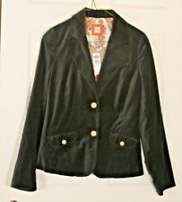 Old Navy NWT Black Gray Velvet Fitted Blazer Jacket Womens Paisley Lined S