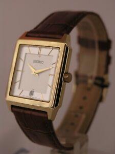 Seiko watches brown bracelet Gold tone case SKP304P1