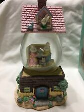 Easter Musical Waterball Globe Glass Plays In Your Easter Bonnet Rabbit