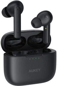 AUKEY Écouteurs Bluetooth sans Fil à Réduction Active du Bruit, 4 Microphones