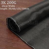 """3K 200gsm Real Plain Weave Carbon Fiber Cloth Carbon Fabric Tape 8"""" x 12"""""""