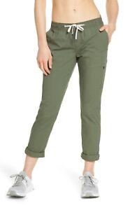 Vuori Drawstring Ripstop Pant: Size S: Olive Green (168)