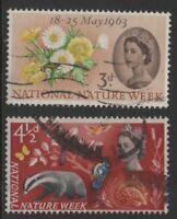 1963 QE II COMMEMORATIVES: NATIONAL NATURE WEEK. SG637-638. GOOD TO FINE USED.