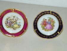 2 Small Vintage Limoges France Porcelaine Artistique Plate Plates F M 14211