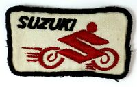 SUZUKI Sew-On Vintage Motorbike Embroidered Cloth Patch Collectable