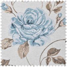 Telas y tejidos azules florales de cortinas