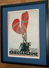 German War Loan Poster, Otto Lehmann -20''x16'' frame, Framed war poster