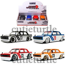 Jada JDM Tuners 1973 Datsun 510 Widebody 1:24 Black Blue Red Orange 98556 Set