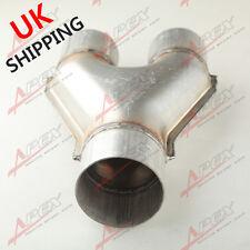 "Universal Custom Exhaust Y-Pipe 2.25"" Dual 2.5"" Single Aluminized Steel UK"
