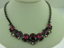 Sorrelli Pink Ruby Necklace NCW11ASPR  Antique silver tone