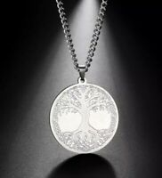 Stainless Steel Celtic Tree of Life Necklace with 60 cm (23.62 in)  chain