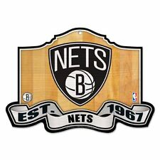 "NBA Brooklyn Nets 11-by-17 ""Traditional Look"" Wood Sign great for the Man Cave"