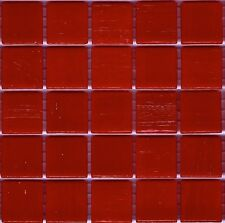 25pcs VTC80 Dark Red Bisazza Vetricolor Glass Mosaic Tiles 2cm x 2cm