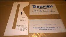 New Genuine Triumph Left Cowl Panel Foam Pad Template T2301522
