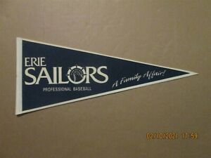 NYPL Erie Sailors Vintage Defunct Circa 1993 Team Logo Baseball Pennant