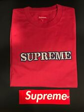 Supreme floral tee dusty red size xl
