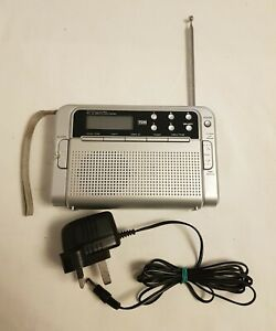TCM FM/LW/MW/SW 226366 DIGITAL RECEIVER PORTABLE WORLD RADIO ALARM CLOCK .