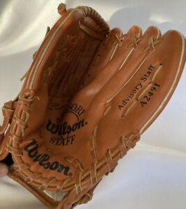 "Wilson Baseball Glove Advisory Staff 11"" Pattern Left Hand RHT A2491 Dual Hinge"