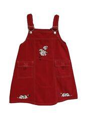 Vintage Samara youth girls jumper dress jean red Dalmatian size 5