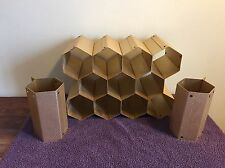 Vintage Mid Century Modern Honeycomb Wine Rack Anodized Aluminum! Rare!