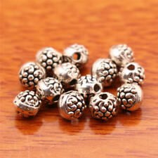 110pcs tibetan silver color round  declicate spacer bead  h3356