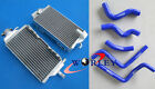 Aluminum radiator for Honda CR125R 2000 2001 00 01 with 5pcs BLUE silicone hose