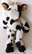 Build A Bear Cow with Bell Black and White