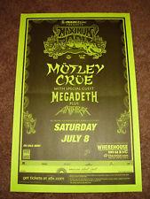 MOTLEY CRUE PROMO Concert Gig TOUR Poster 2000 Megadeth Anthrax New Mexico
