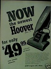 Hoover Vacuum Sweeper Household Appliance~1949~Paper AD