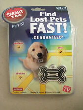 SMART TAG PET ID Size Medium AS SEEN ON TV Find Lost Pets Fast